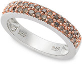 Macy's Sterling Silver Ring, Champagne Diamond Stackable Ring (1/2 ct. t.w.)