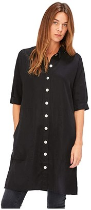 XCVI Everette Shirtdress in Soft Twill (Black) Women's Clothing