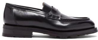 Santoni Chunky-sole Leather Loafers - Black