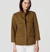 LOFT Linen Cotton Cargo Jacket