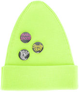 Marc Jacobs button badge beanie - men - Polyester/Virgin Wool - M