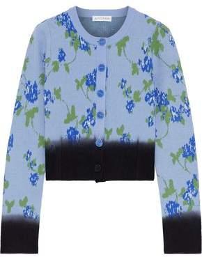 Altuzarra Zannone Cropped Floral-intarsia Wool Cardigan