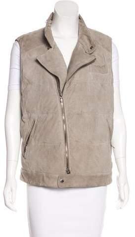 Brunello Cucinelli Leather Puffer Vest
