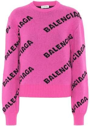 Balenciaga Logo stretch-wool sweater
