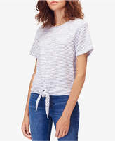 Calvin Klein Jeans Striped Tie-Front T-Shirt