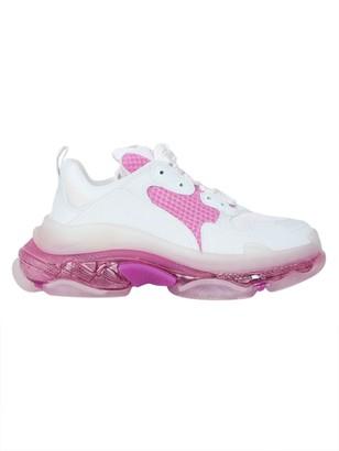 Balenciaga Multicolored Triple S Clear Sole Sneakers White/pink