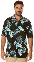 Cubavera Short Sleeve Rayon Allover Tropical Print Shirt