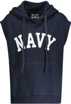 Nlst Navy cotton-blend hooded top