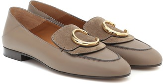 Chloã© ChloA C leather loafers