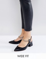 Asos SAVAGE Wide Fit Chain Pointed Heels