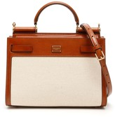 Dolce & Gabbana Sicily 62 Leather And Canvas Bag