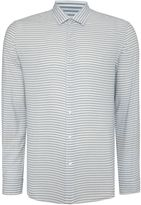Peter Werth Men's Light Horizontal Stripe Cotton Shirt