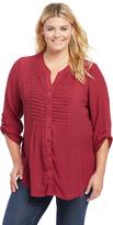 Motherhood Plus Size Lace Trim Maternity Tunic