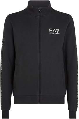 Giorgio Armani Ea7 Logo Stripe Zip-Up Sweatshirt