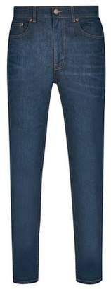 Dorothy Perkins Womens **Burton Coated Green Raw Denim Carter Tapered Fit Jeans