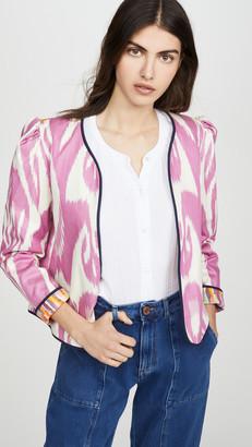Alix of Bohemia Sly Fox Silk Moire Ikat Jacket