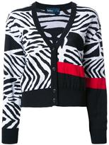 Kolor zebra print cardigan - women - Wool - 2