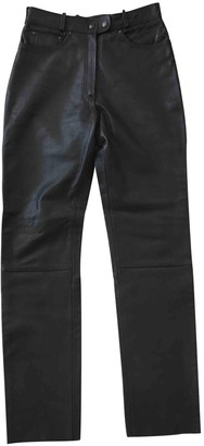 Ohne Titel Black Leather Trousers for Women