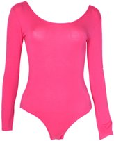 Style Womens Plain Bodysuit Leotard (M/L (10-12), HOT PINK)