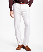 Brooks Brothers Clark Fit Linen and Cotton Herringbone Pants