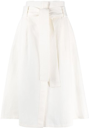 P.A.R.O.S.H. High-Waisted Belted Skirt
