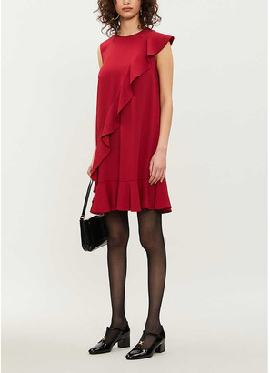 RED Valentino Ruffled crepe mini dress