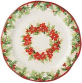 Southern Living Holiday Poinsettia Wreath Salad Plate