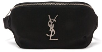 Saint Laurent plaque Canvas Belt Bag - Black
