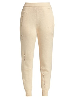 Helmut Lang Distressed High-Rise Joggers