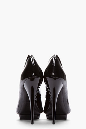 McQ Black Patent Leather & BRushed Suede Ombre Pumps