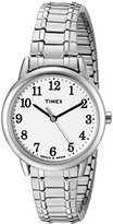 Timex Women's TW2P78500 Easy Reader Silver-Tone Stainless Steel Expansion Band Watch