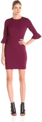 Donna Morgan Women's Kendall 3/4 Elbow Bell Sleeve Sheath Dress