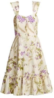 Gioia Bini Camilla Ruffle-trimmed Dress - Womens - Multi