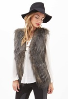 LOVE21 LOVE 21 Contemporary Two-Tone Faux Fur Vest
