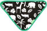 Toby Tiger Baby Black Jungle Print Dribble Bib