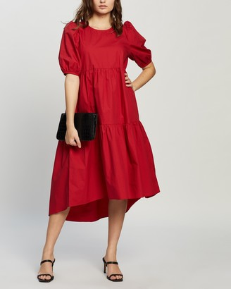 MinkPink Nancy Hi-Low Midi Dress