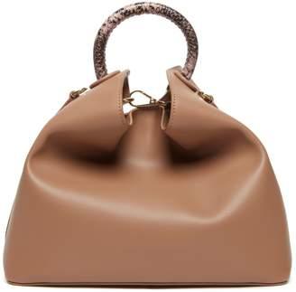Elleme Raisin Python Convertible Shoulder Leather Bag