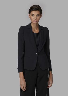 Giorgio Armani Mulberry Silk Single-Breasted Jacket