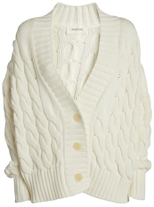 Sportmax Ode Cable-Knit Cardigan