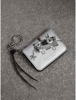 Burberry Creature Motif Metallic Leather ID Card Case Charm