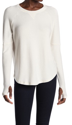 Theo And Spence Yummy Thumbhole Sleeve Brushed Knit Pullover