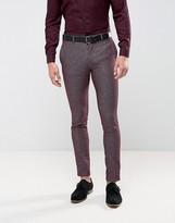 Jack & Jones Premium Skinny Suit Trouser In Texture