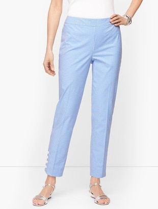 Talbots Gingham Slim Ankle Pants