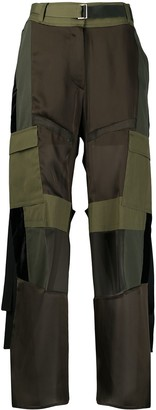 Sacai High-Rise Combined Cargo Trousers