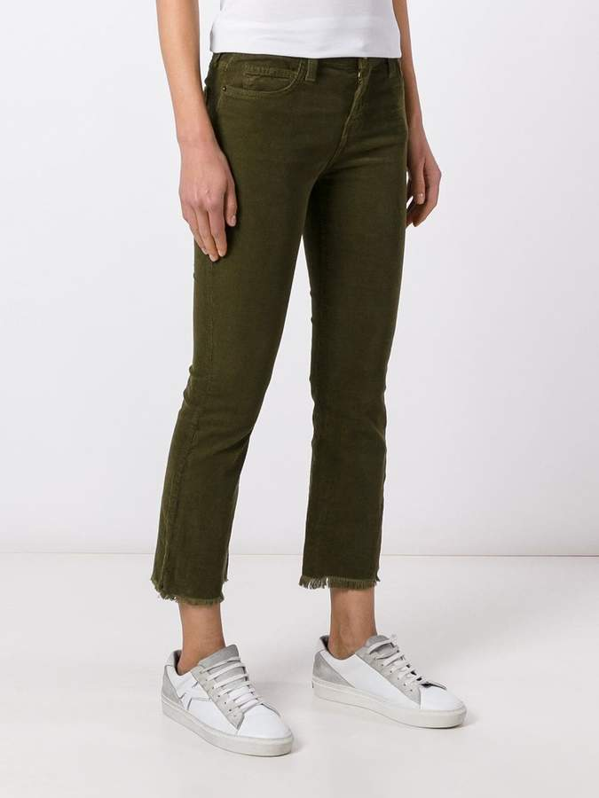 Current/Elliott 'The Kick' corduroy cropped jeans
