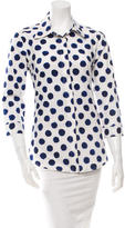 Samantha Sung Dot Printed Button-Up Top w/ Tags