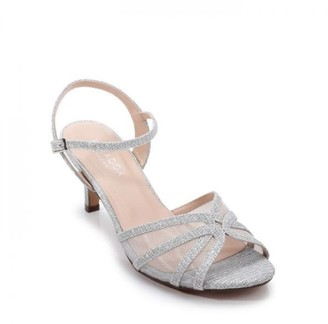 Paradox London Glitter Mesh 'Helice' Mid Heel Sandal