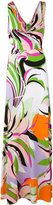 Emilio Pucci draped neck maxi dress