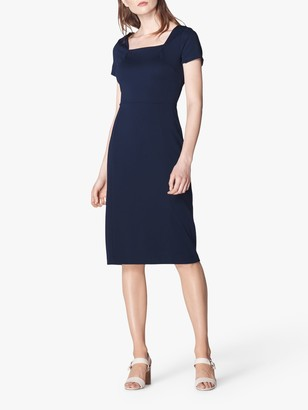LK Bennett Aria Midi Dress, Midnight