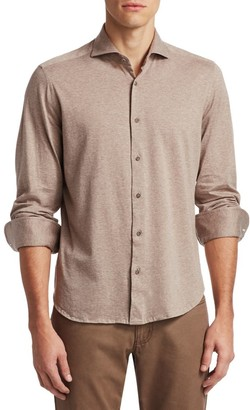 Saks Fifth Avenue COLLECTION Solid Button-Down Cotton Shirt